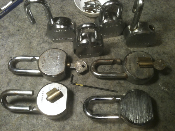Dave's Blasting 'Master' brand padlocks rekeyed and repaired